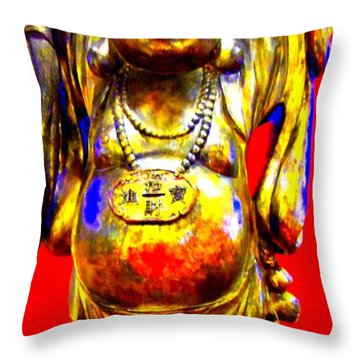 Good Luck At The Gold Coast Throw Pillow by Randall Weidner