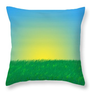 Good Morning  Throw Pillow by Saad Hasnain
