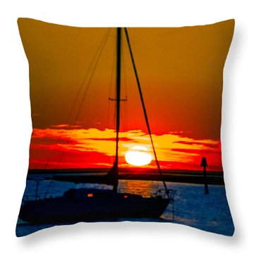 Throw Pillow featuring the photograph Good Night by Shannon Harrington