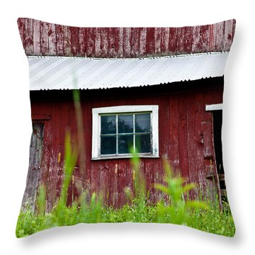 Good Ole Red Barn Throw Pillow by Karol Livote