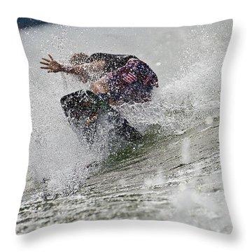 Good Try Throw Pillow by Susan Leggett