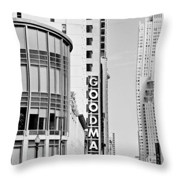 Goodman Theatre Center Chicago Throw Pillow by Christine Till