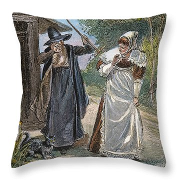 Goodwife Walford, 1692 Throw Pillow by Granger