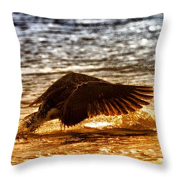 Goose Attack Throw Pillow