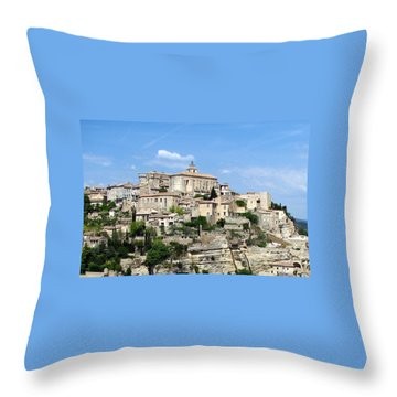 Gordes In Provence Throw Pillow by Carla Parris