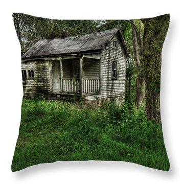 Gore Missouri Population Seven Throw Pillow by William Fields
