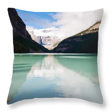 Throw Pillow featuring the photograph Gorgeous Lake Louise by Cheryl Baxter