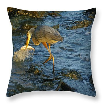 Throw Pillow featuring the photograph Gotcha by Brian Wright