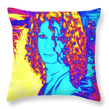 Gothic Beauty Throw Pillow by Renee Trenholm