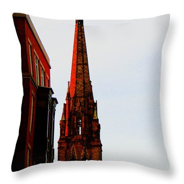 Gothic Spire Throw Pillow by Marie Jamieson