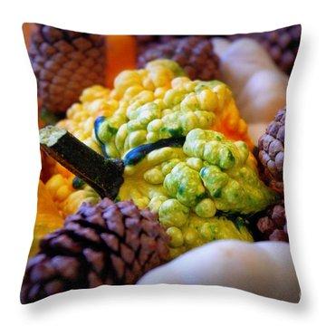 Throw Pillow featuring the photograph Gourds 2 by Deniece Platt