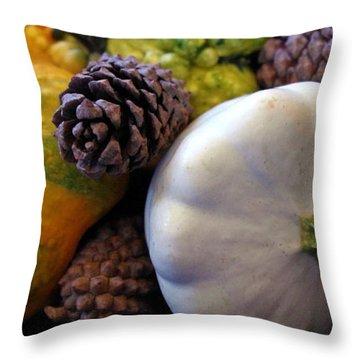 Throw Pillow featuring the photograph Gourds 6 by Deniece Platt