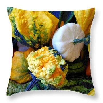 Throw Pillow featuring the photograph Gourds 8 by Deniece Platt