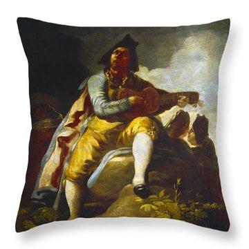 Goya: Guitarist Throw Pillow by Granger