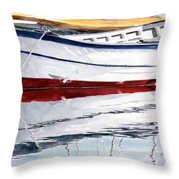 Gozzo Bianco Throw Pillow by Giovanni Marco Sassu