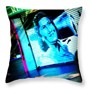 Grab A Star On Sunset Boulevard In Hollywood Throw Pillow by Susanne Van Hulst