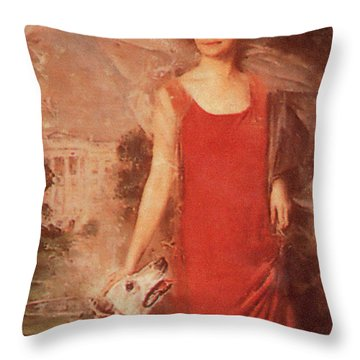 Grace Coolidge Throw Pillow