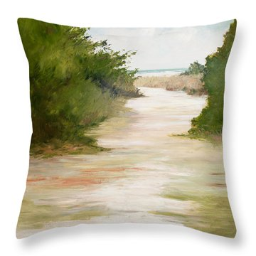 Grace Of The Sea Throw Pillow