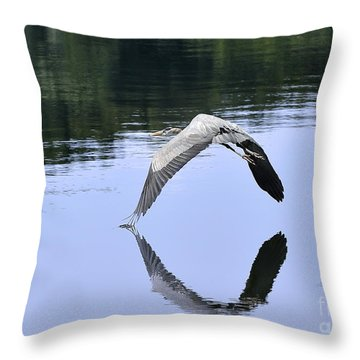 Throw Pillow featuring the photograph Graceful Heron by Nava Thompson
