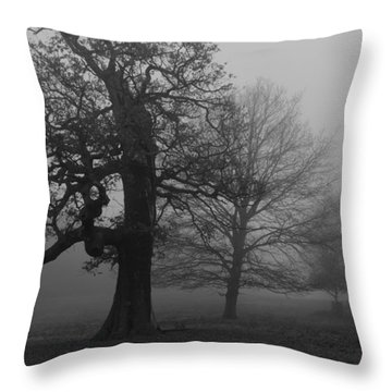 Throw Pillow featuring the photograph Gradual Trees by Maj Seda