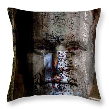 Graffiti Throw Pillow by Christopher Gaston