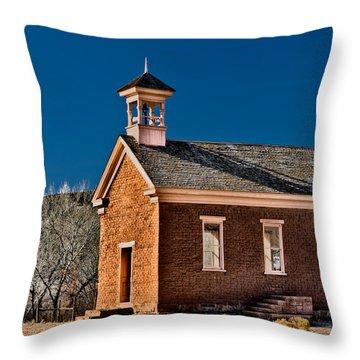 Grafton Schoolhouse Throw Pillow by Christopher Holmes