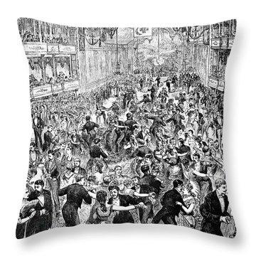 Grand Ball, New York, 1877 Throw Pillow by Granger