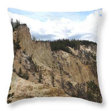 Throw Pillow featuring the photograph Grand Canyon Cliff In Yellowstone by Living Color Photography Lorraine Lynch