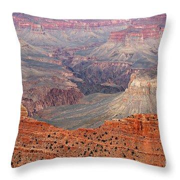 Grand Canyon Crimson Ridge Throw Pillow by Michael Kirsh