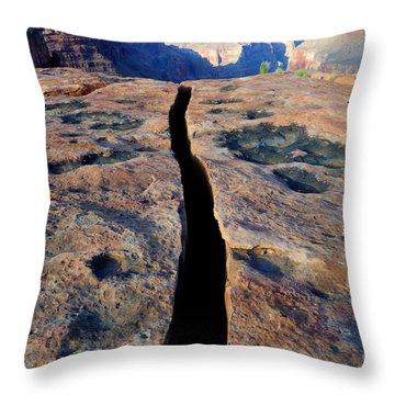 Grand Canyon Dividing Line Throw Pillow by Bob Christopher