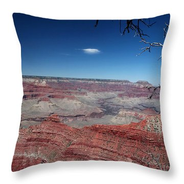 Throw Pillow featuring the photograph Grand Canyon Number Three by Lon Casler Bixby