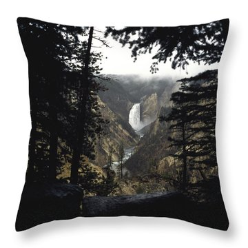 Throw Pillow featuring the photograph Grand Canyon Of The Yellowstone  by J L Woody Wooden
