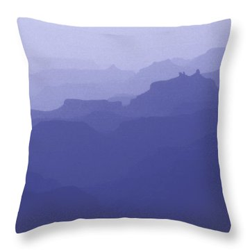 Grand Canyon Silhouettes Throw Pillow