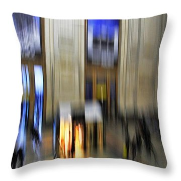 Throw Pillow featuring the photograph Grand Central Station Italian Style by Andy Prendy