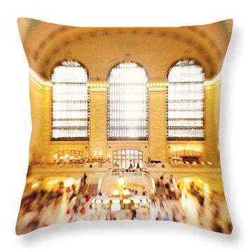Grand Central Terminal New York City Throw Pillow by Kim Fearheiley