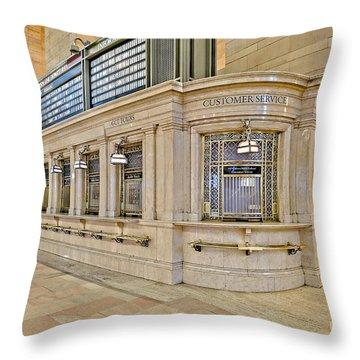 Grand Central Terminal Throw Pillow by Susan Candelario