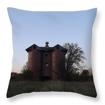 Throw Pillow featuring the photograph Grand Old Silo by Gerald Strine