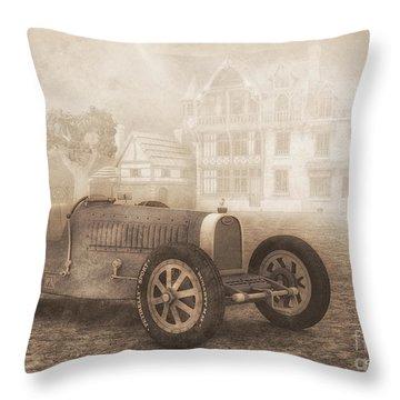 Grand Prix Racing Car 1926 Throw Pillow by Jutta Maria Pusl