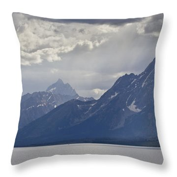 Grand Teton National Park Jackson Lake Throw Pillow