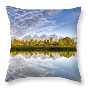 Grand Teton Reflections Jackson Hole Throw Pillow
