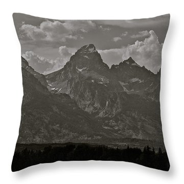 Throw Pillow featuring the photograph Grand Tetons by Eric Tressler