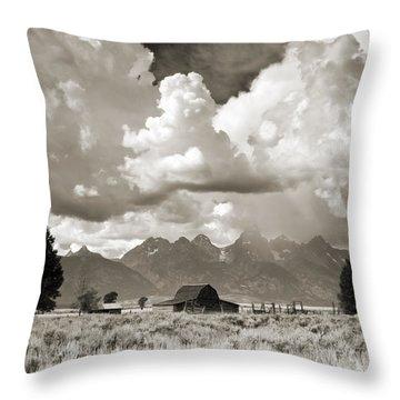 Grand Tetons Jackson Barn Throw Pillow