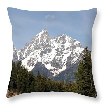 Throw Pillow featuring the photograph Grand Tetons by Living Color Photography Lorraine Lynch