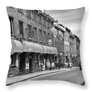 Grande Allee Throw Pillow by Eunice Gibb
