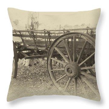 Grandfather's Sunday Drive Throw Pillow by Douglas Barnard