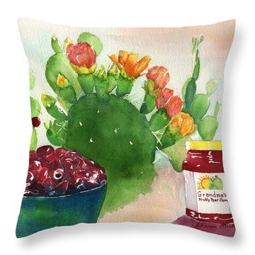 Grandmas Prickly Pear Jam Throw Pillow