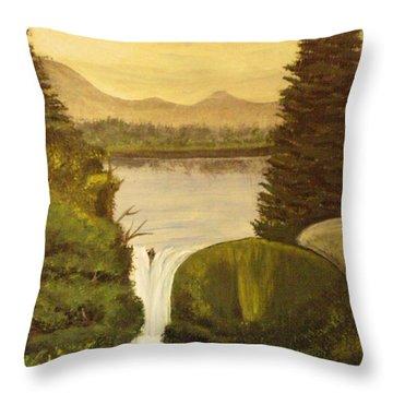 Grandpa Mountain Throw Pillow by Mitzi Foreman