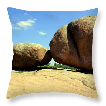Granite Boulders 2  Throw Pillow by Marty Koch