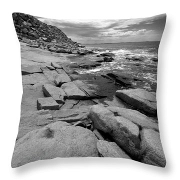 Granite Shore Throw Pillow