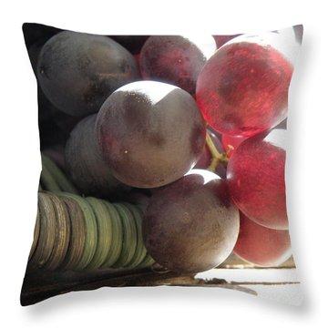 Grape Glow Throw Pillow by Lainie Wrightson